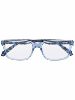 Солнцезащитные очки в квадратной оправе Polaroid. Цвет: синий