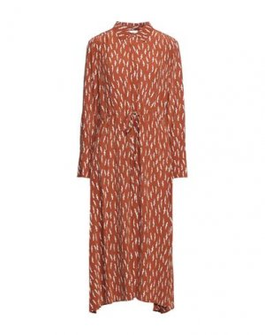 Платье миди ATTIC AND BARN. Цвет: коричневый