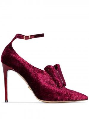 Туфли Liya 100 с бантами Charles Jourdan. Цвет: красный