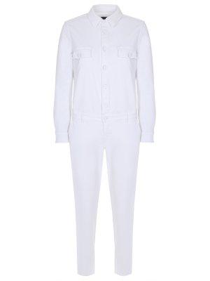 Комбинезон джинсовый JACOB COHEN. Цвет: белый