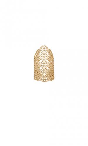 Кольцо boone Kendra Scott. Цвет: металлический золотой