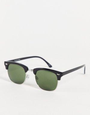 Черные солнцезащитные очки в стиле ретро -Черный цвет Selected Homme