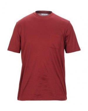 Футболка BAND OF OUTSIDERS. Цвет: красно-коричневый