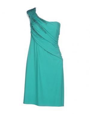 Короткое платье CLIPS. Цвет: светло-зеленый