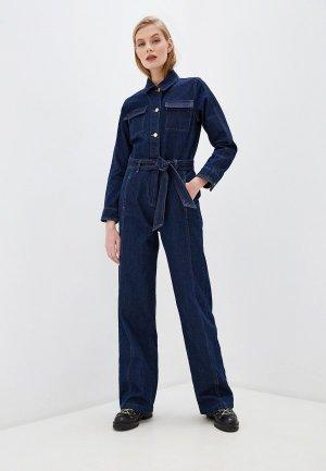 Комбинезон джинсовый Frame. Цвет: синий