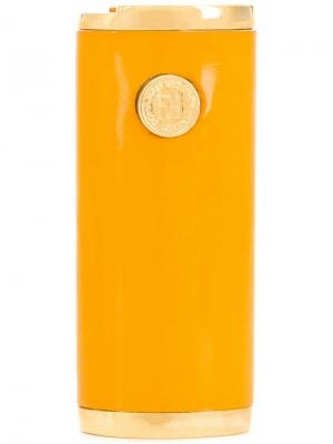 Зажигалка в стиле 1990-х Fendi Vintage. Цвет: желтый