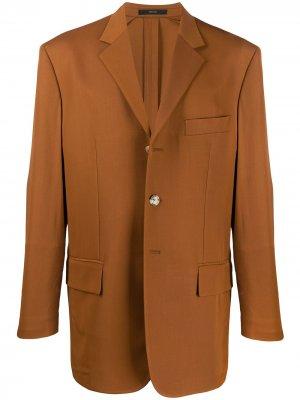 Однобортный пиджак PAUL SMITH. Цвет: желтый