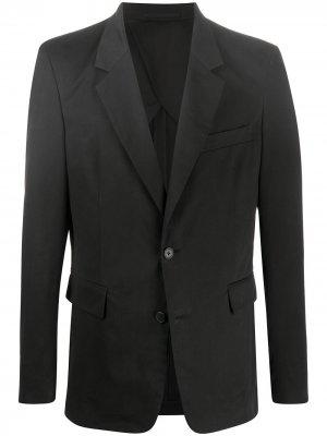 Однобортный пиджак The Row. Цвет: черный