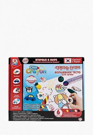 Набор для творчества 1Toy Clay Crayon. Цвет: разноцветный