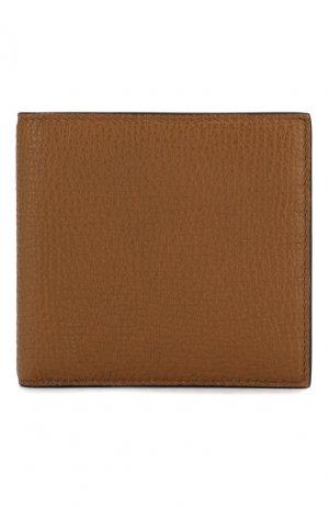 Кожаное портмоне Smythson. Цвет: коричневый