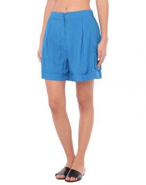 Пляжные брюки и шорты TWINSET. Цвет: синий