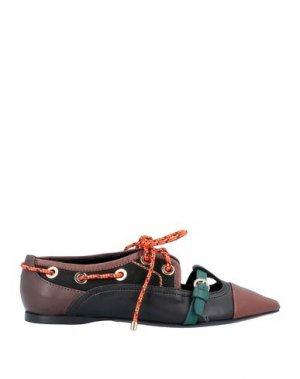 Обувь на шнурках CARVEN. Цвет: черный