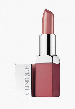 Помада Clinique интенсивный цвет и уход Pop Lip Colour + Primer, Blush Pop, 3.9 г. Цвет: розовый