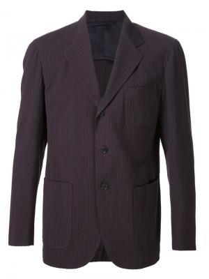 Пиджак в тонкую полоску Camoshita By United Arrows. Цвет: коричневый