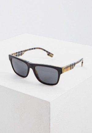 Очки солнцезащитные Burberry BE4293 380687. Цвет: черный
