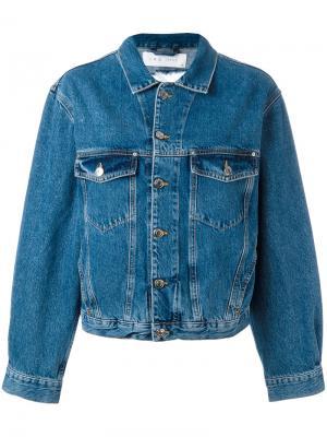 Джинсовая куртка с рваными деталями Iro. Цвет: синий