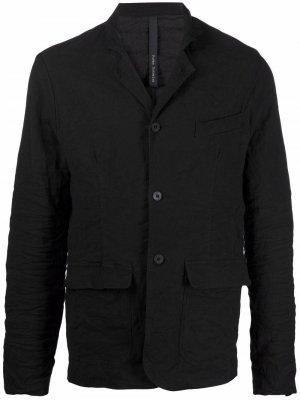 Однобортный пиджак Poème Bohémien. Цвет: черный