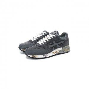 Замшевые кроссовки Mick Premiata. Цвет: серый