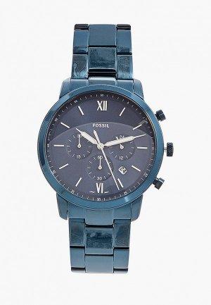 Часы Fossil FS5826. Цвет: синий