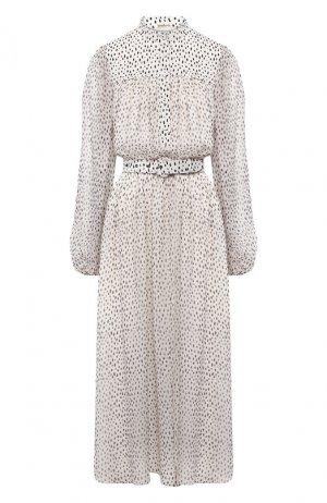 Шелковое платье Adam Lippes. Цвет: чёрно-белый