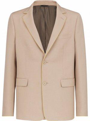 Габардиновый пиджак Fendi. Цвет: коричневый