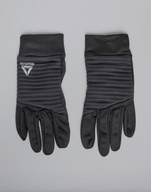 Черные зимние перчатки Training CZ9917 Reebok. Цвет: черный