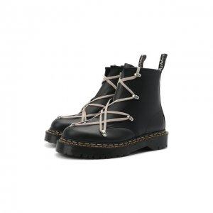 Кожаные ботинки x Dr. Martens Rick Owens. Цвет: чёрный