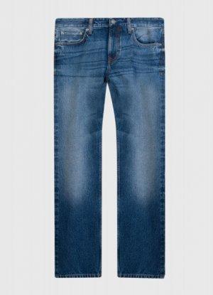 Прямые джинсы из переработанного хлопка O`Stin. Цвет: синий