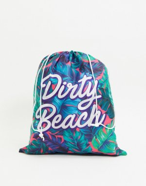 Мешок для грязного белья с надписью dirty beach -Бесцветный Gift Republic