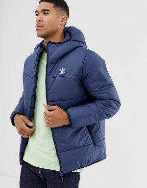 Темно-синяя дутая куртка с логотипом -Темно-синий adidas Originals