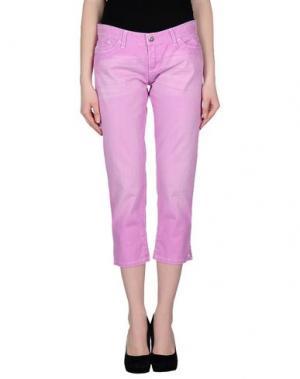 Джинсовые брюки-капри WHO*S WHO. Цвет: фуксия