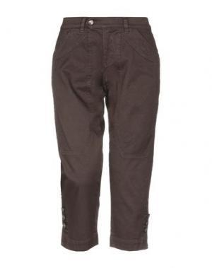 Джинсовые брюки-капри JECKERSON. Цвет: темно-коричневый