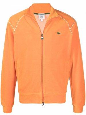 Куртка с вышитым логотипом Lacoste Live. Цвет: оранжевый