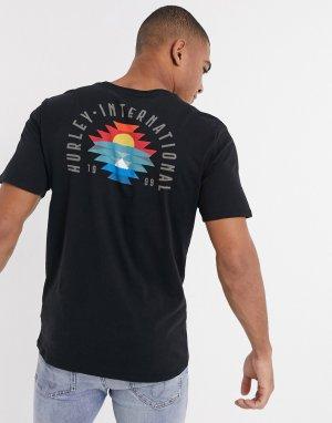 Черная футболка Findapeak-Черный Hurley
