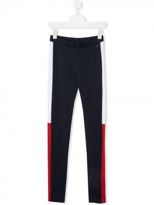 Спортивные брюки с лампасами Tommy Hilfiger Junior. Цвет: синий
