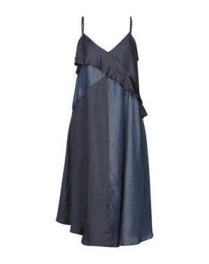 Платье длиной 3/4 CLU. Цвет: синий