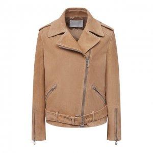 Замшевая куртка DROMe. Цвет: бежевый