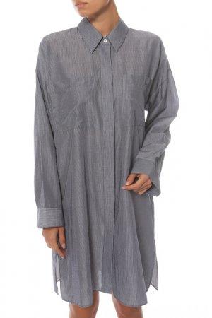 Платье-рубашка Acne. Цвет: сиреневый