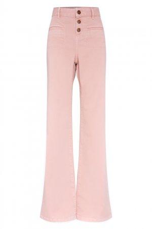 Пудрово-розовые расклешенные джинсы Gerard Darel. Цвет: розовый