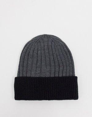Темно-серая шапка-бини Aldo-Серый ALDO