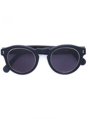 Солнцезащитные очки LR1 Illesteva. Цвет: чёрный