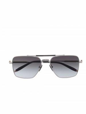Солнцезащитные очки Eos в квадратной оправе Akoni. Цвет: серебристый
