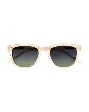 Солнечные очки BARTON PERREIRA. Цвет: слоновая кость