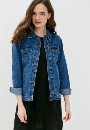 Куртка джинсовая Запорожец Heritage. Цвет: синий