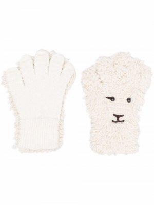 Вязаные перчатки Doublet. Цвет: нейтральные цвета
