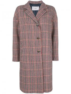 Однобортное пальто Mauro Grifoni. Цвет: красный