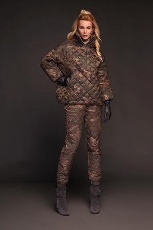 Анорак Naumi. Цвет: принт армейский, бронза