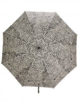 Складной зонт с цветочным принтом 10 CORSO COMO. Цвет: нейтральные цвета