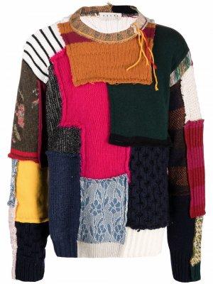 Patchwork knitted jumper Paura. Цвет: розовый