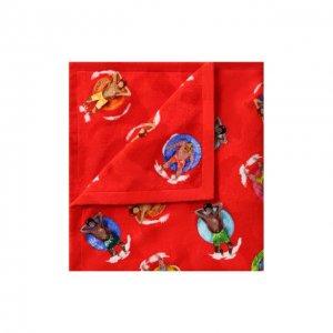 Хлопковое полотенце Ermenegildo Zegna. Цвет: красный